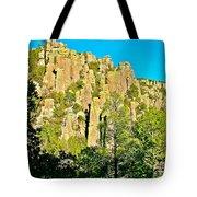 Rhyolite Columns On Ed Riggs Trail In Chiricahua National Monument-arizona Tote Bag