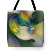Rhythm Of Life-abstract Fractal Art Tote Bag
