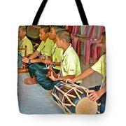 Rhythm Section In Traditional Thai Music Class  At Baan Konn Soong School In Sukhothai-thailand Tote Bag