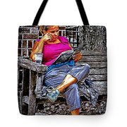 Rhythmic Reading Tote Bag