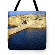 Ricasoli Breakwater At Valletta's Grand Harbor Tote Bag