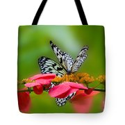 Rice Paper Butterflies Tote Bag