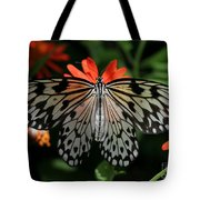 Rice Paper Butterfly Elegance Tote Bag