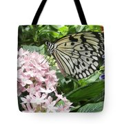 Rice Paper On Flower Tote Bag