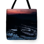 Rice Terrace After Sunset Tote Bag