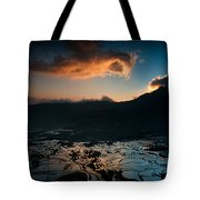 Rice Terrace And Cloud Tote Bag