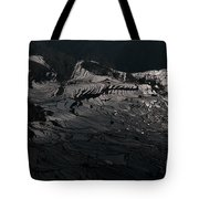 Rice Terrace In Black And White Tote Bag
