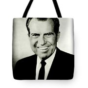 Richard M Nixon Tote Bag by Benjamin Yeager