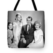 Richard Nixon And Family Tote Bag