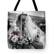 Richard Simmons Is A Blushing Bride Tote Bag