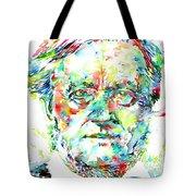 Richard Wagner Watercolor Portrait Tote Bag