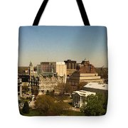 Richmond Virginia - Old And New Capitol Buildings Tote Bag