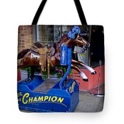 Ride The Champion Tote Bag