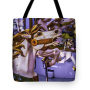 Ride The Wild Carrousel Horses Tote Bag