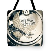 Ride To Live Tote Bag