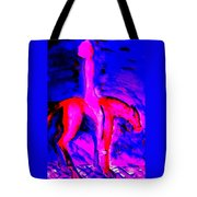 We Are Riding Out Into The Big Blue Nowhere  Tote Bag