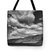 Ridges Black And White Tote Bag