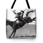 Riding A Bucking Bronco Tote Bag