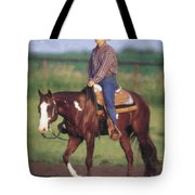 Riding Fence Tote Bag