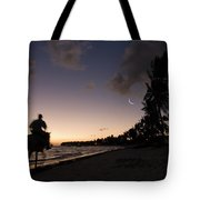 Riding On The Beach Tote Bag by Adam Romanowicz