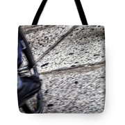 Riding On The Sidewalk Tote Bag