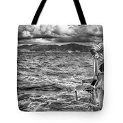 Riding The Crest Of The Wave Tote Bag