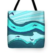 Riding The Current Tote Bag