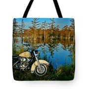 Riding The Mississippi Delta Tote Bag