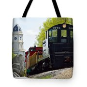 Riding The Train Tote Bag