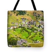 Riederalp Switzerland With Golf Course Tote Bag