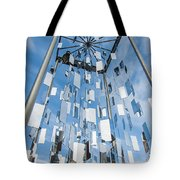 Riga Monument To Christmas Trees Tote Bag