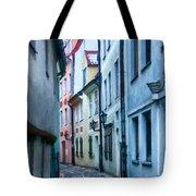 Riga Narrow Street Painting Tote Bag