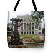 Riga National Opera House Tote Bag