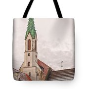 Riga St Johns Church Tote Bag