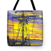 Rigging In The Sunset Tote Bag