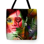 Rihanna Over Rihanna Tote Bag