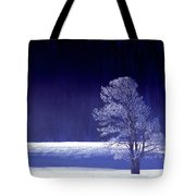 Rime Ice Covered Tree Yellowstone National Park Wyoming Tote Bag
