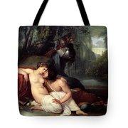 Rinaldo And Amida Tote Bag by Francesco Hayez