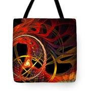 Ring Of Fire Tote Bag by Andee Design