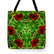 Ring Of Poppies Tote Bag