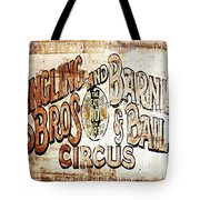 Ringling Brothers And Barnum And Bailey Circus Tote Bag