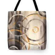 Rings Of Gold Abstract Painting Tote Bag