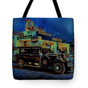 Rio Grande Homage 1950  Gas Station And Vehicle C.1935 Tote Bag