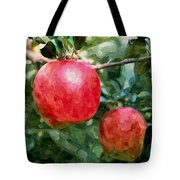 Ripe Red Apples On Tree Tote Bag