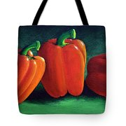 Ripe Red Peppers Tote Bag