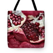 Ripe Red Pomegranate Close Up Tote Bag