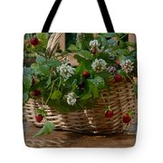 Wild Strawberries And White Clover Tote Bag