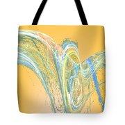 Ripple Yellow Tote Bag
