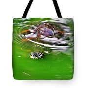Rippled Green Tote Bag