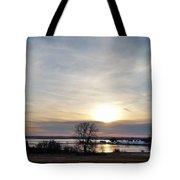 Rippled Sunset Tote Bag